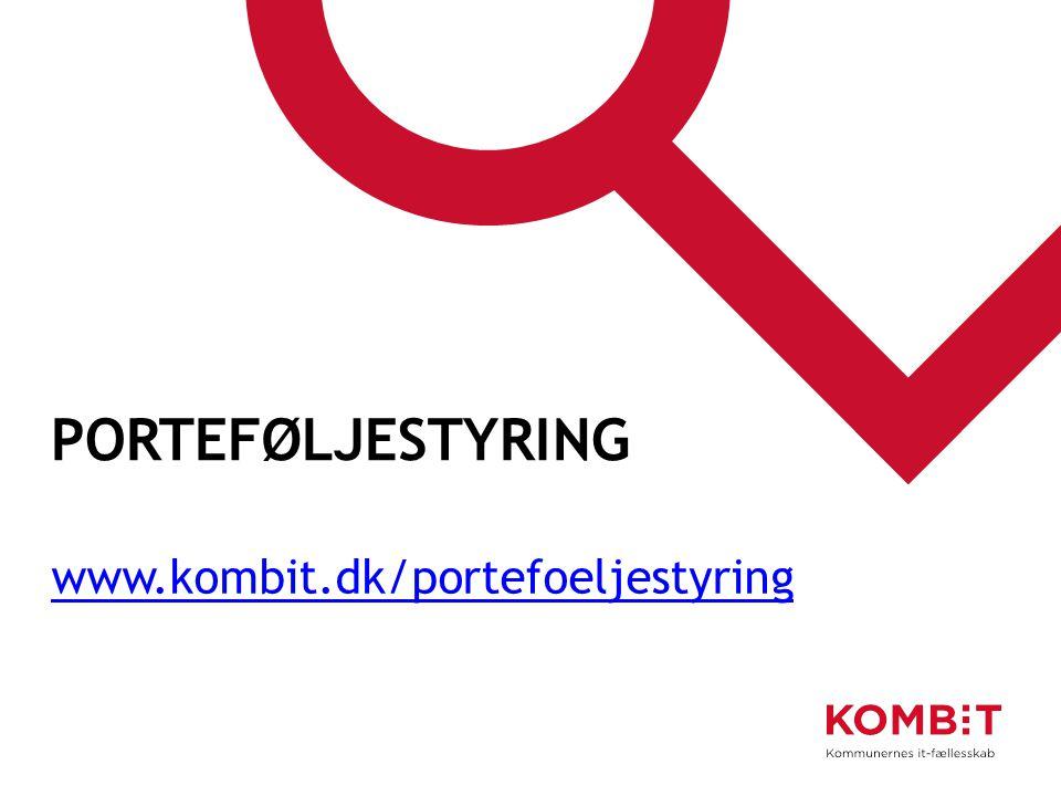 porteføljestyring www.kombit.dk/portefoeljestyring