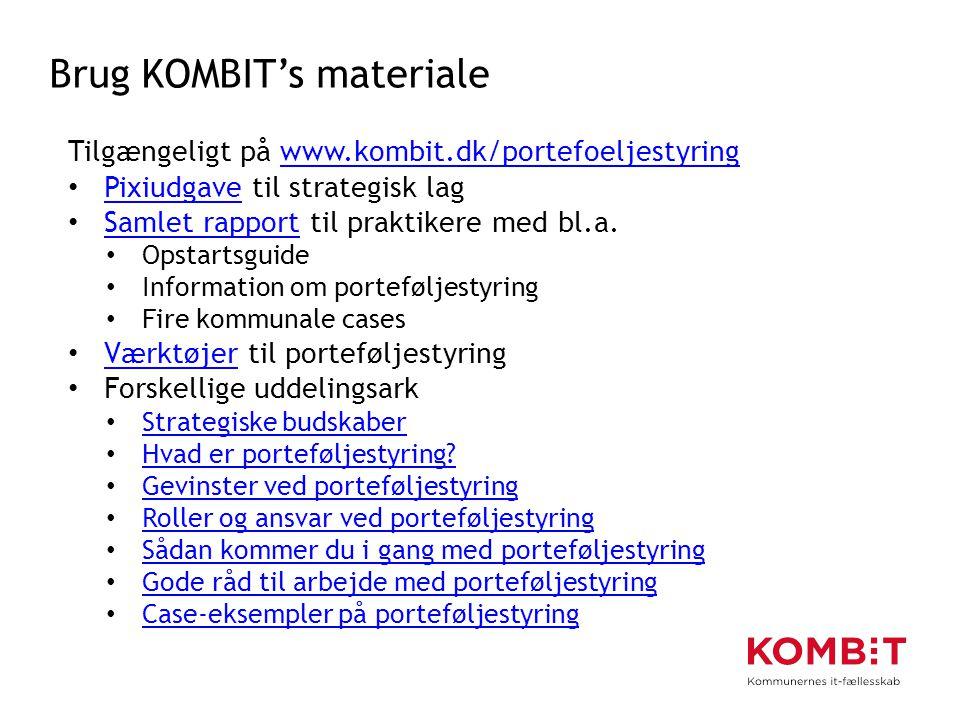 Brug KOMBIT's materiale