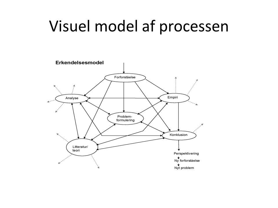 Visuel model af processen