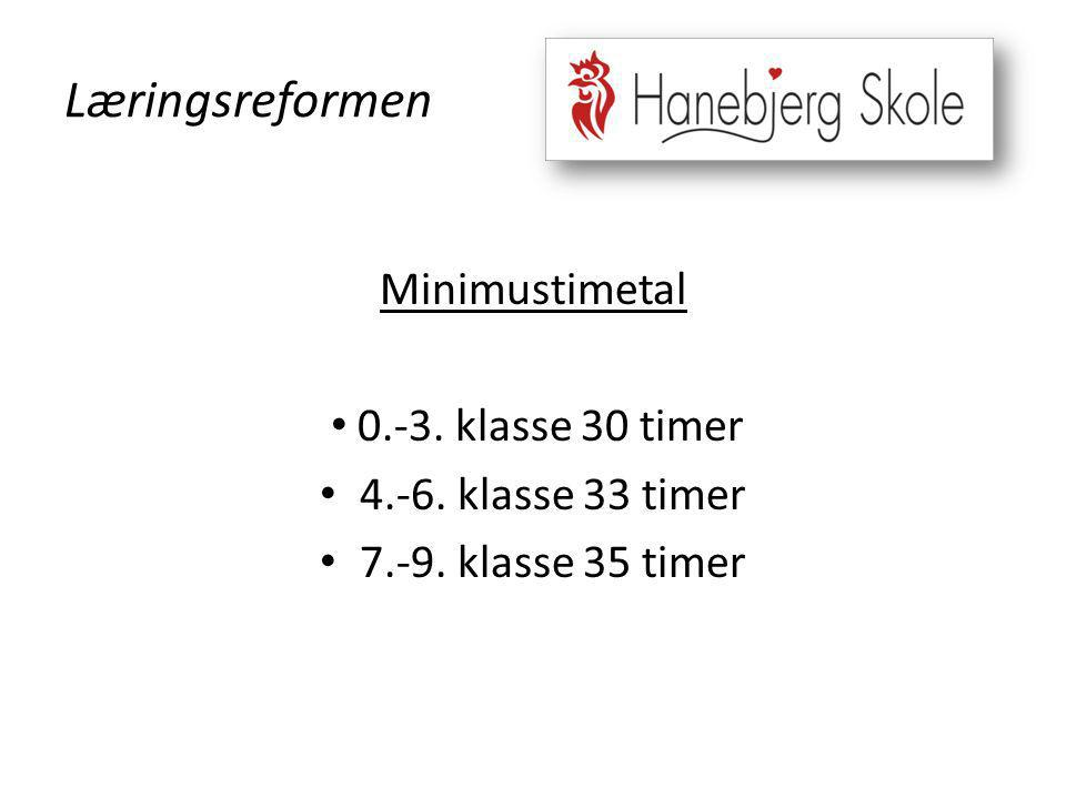 Læringsreformen Minimustimetal 0.-3. klasse 30 timer