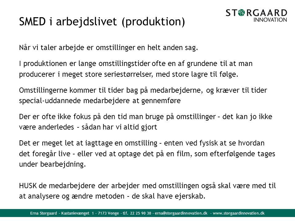 SMED i arbejdslivet (produktion)