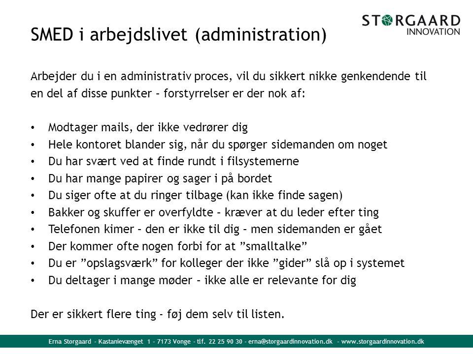 SMED i arbejdslivet (administration)