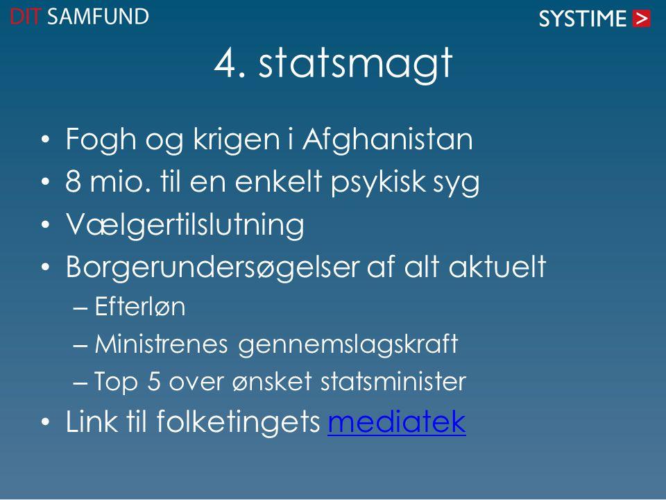 4. statsmagt Fogh og krigen i Afghanistan