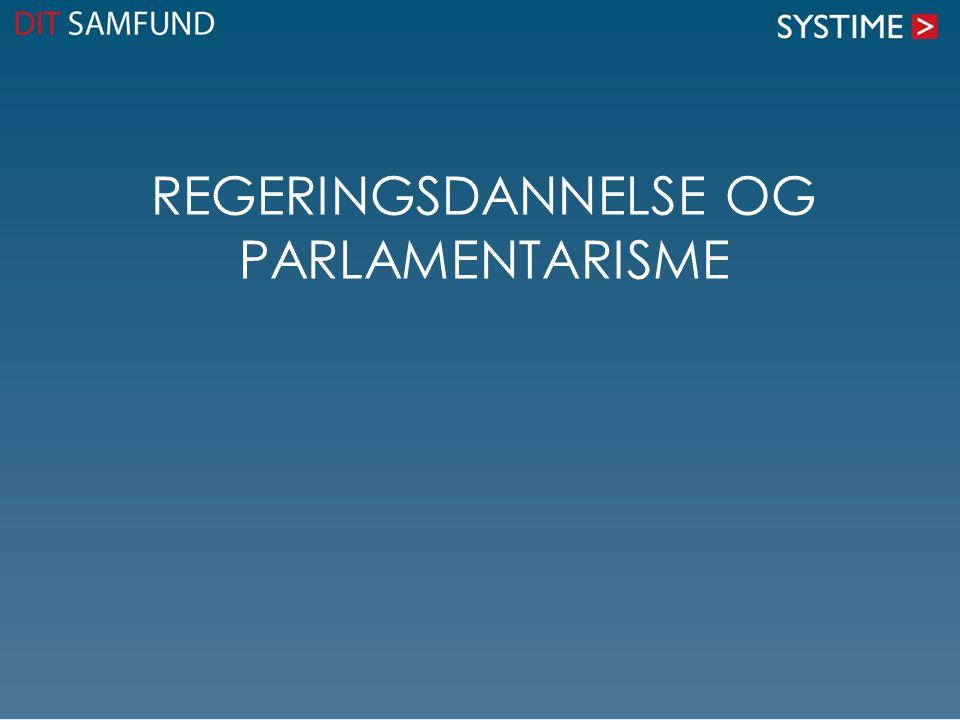 Regeringsdannelse og parlamentarisme