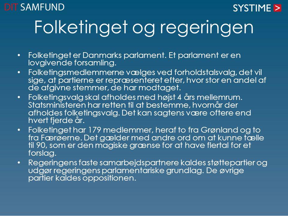 Folketinget og regeringen