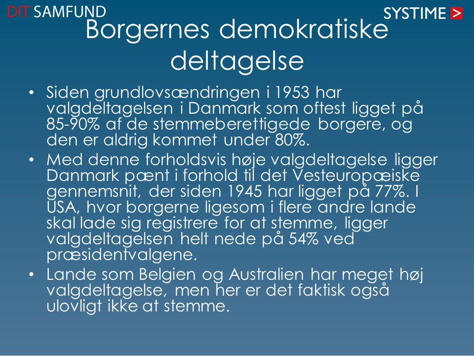Borgernes demokratiske deltagelse