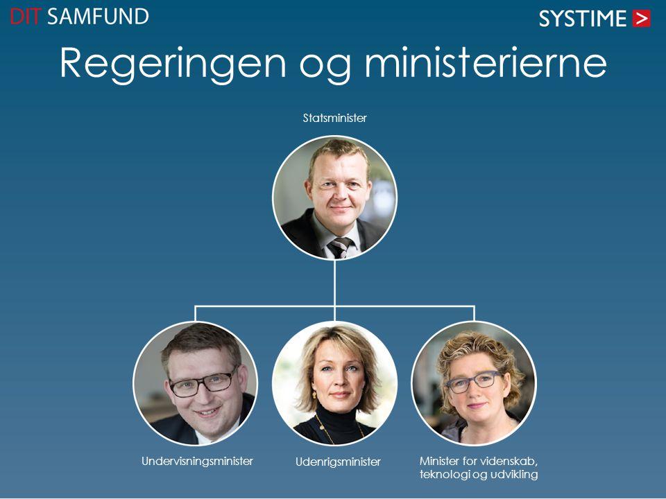 Regeringen og ministerierne