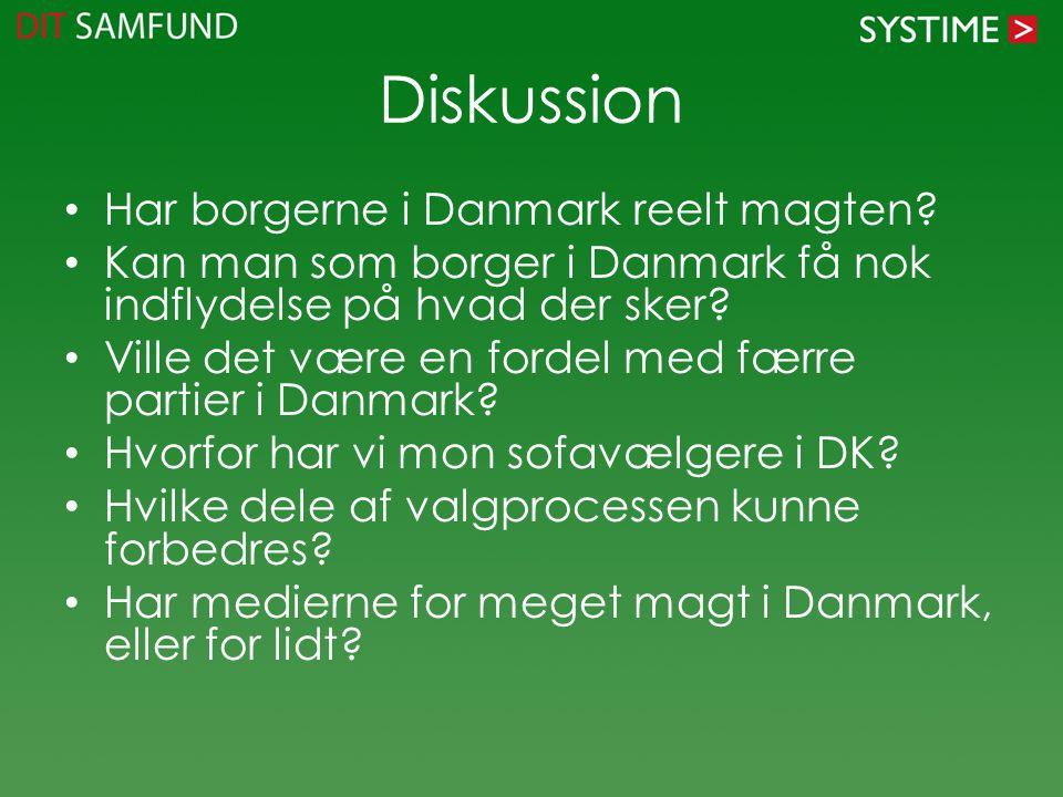 Diskussion Har borgerne i Danmark reelt magten