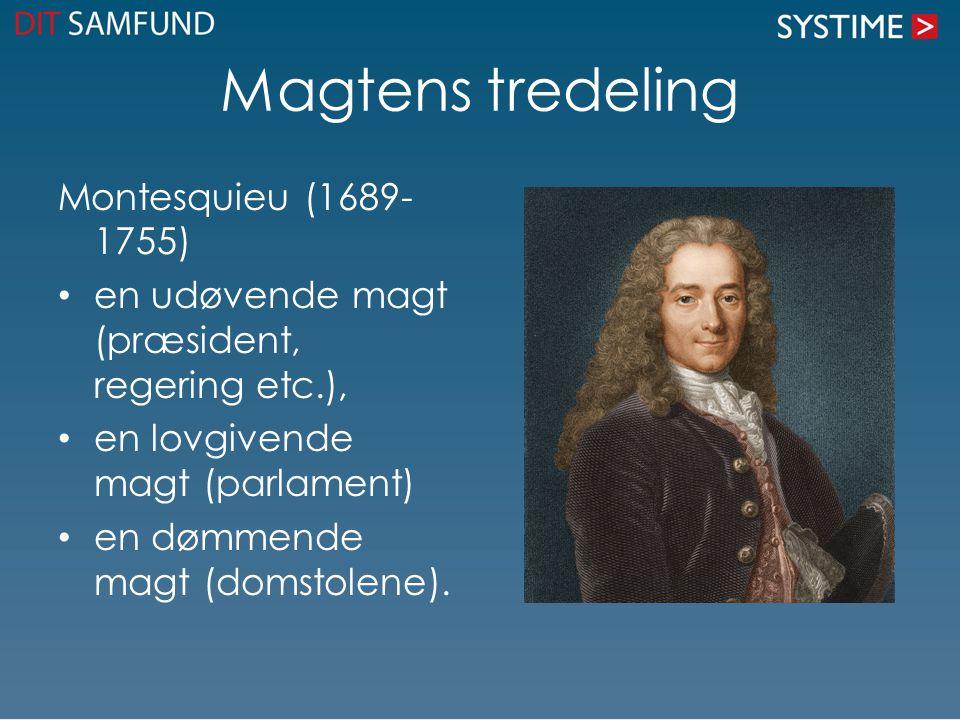 Magtens tredeling Montesquieu (1689-1755)