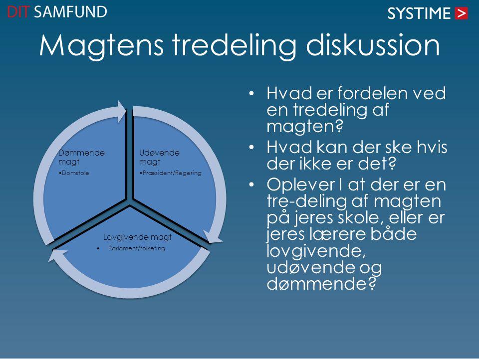 Magtens tredeling diskussion