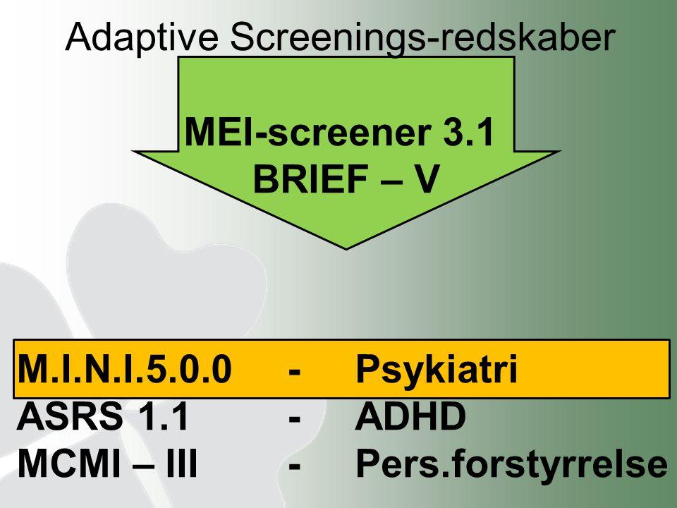 Adaptive Screenings-redskaber