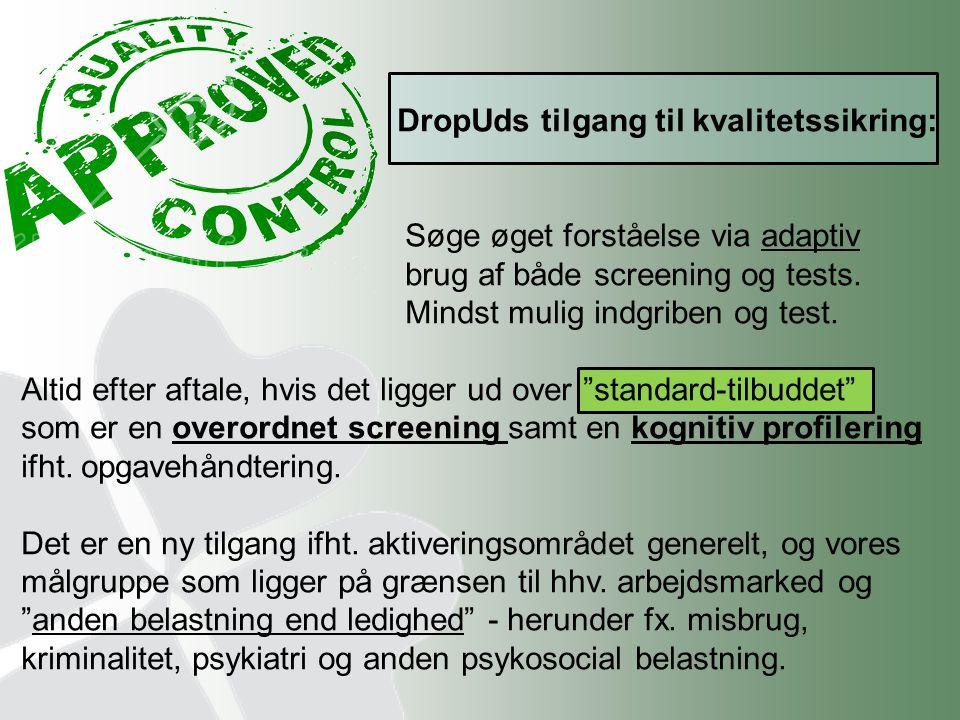 DropUds tilgang til kvalitetssikring: