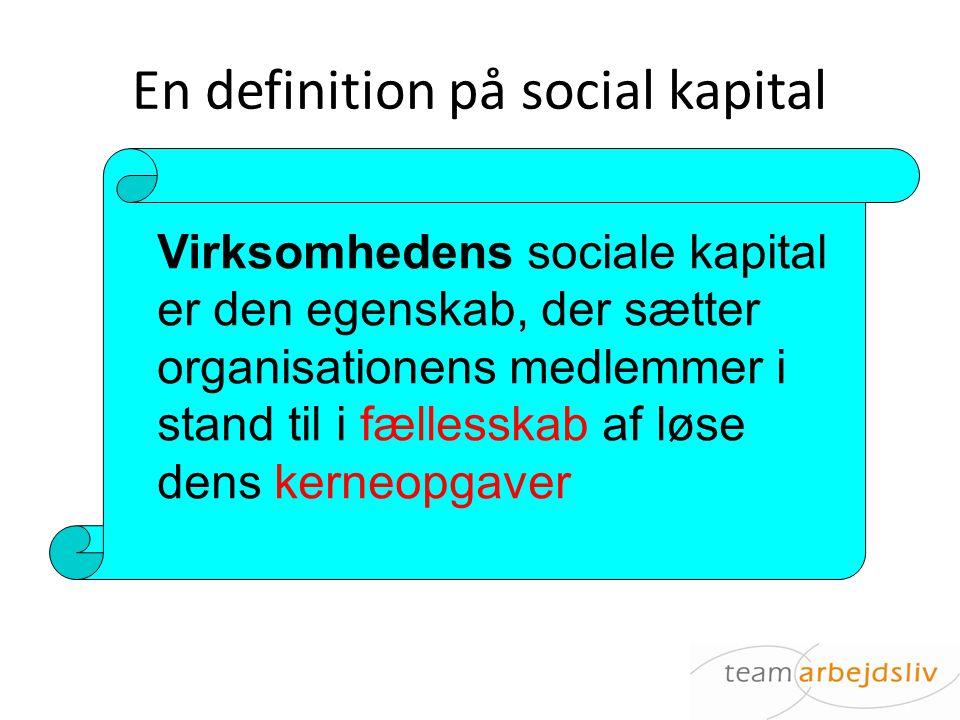 En definition på social kapital