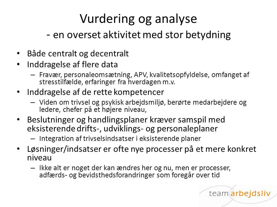 Vurdering og analyse - en overset aktivitet med stor betydning