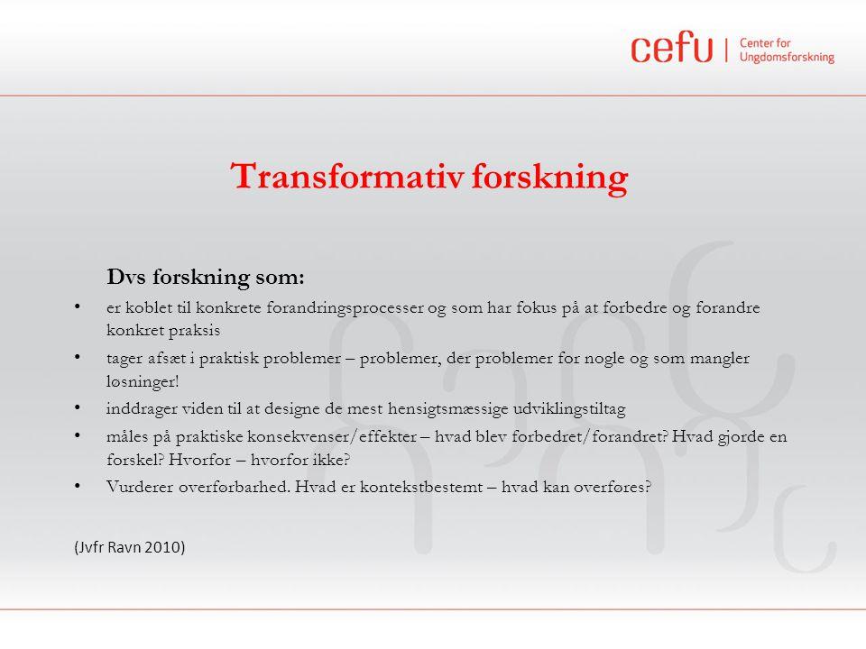 Transformativ forskning