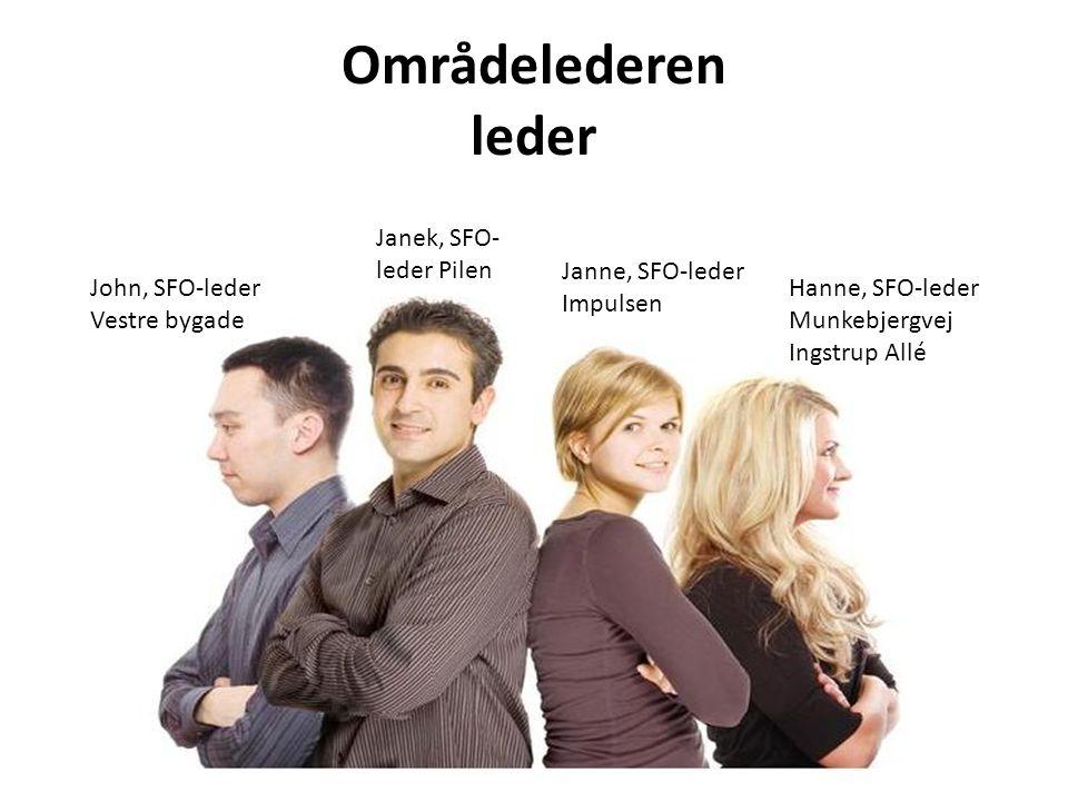 Områdelederen leder Janek, SFO-leder Pilen Janne, SFO-leder Impulsen