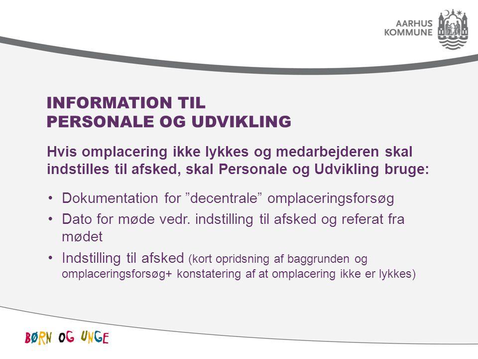 Information til Personale og Udvikling
