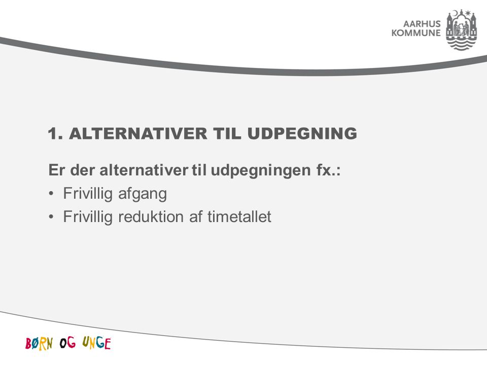 1. Alternativer til udpegning