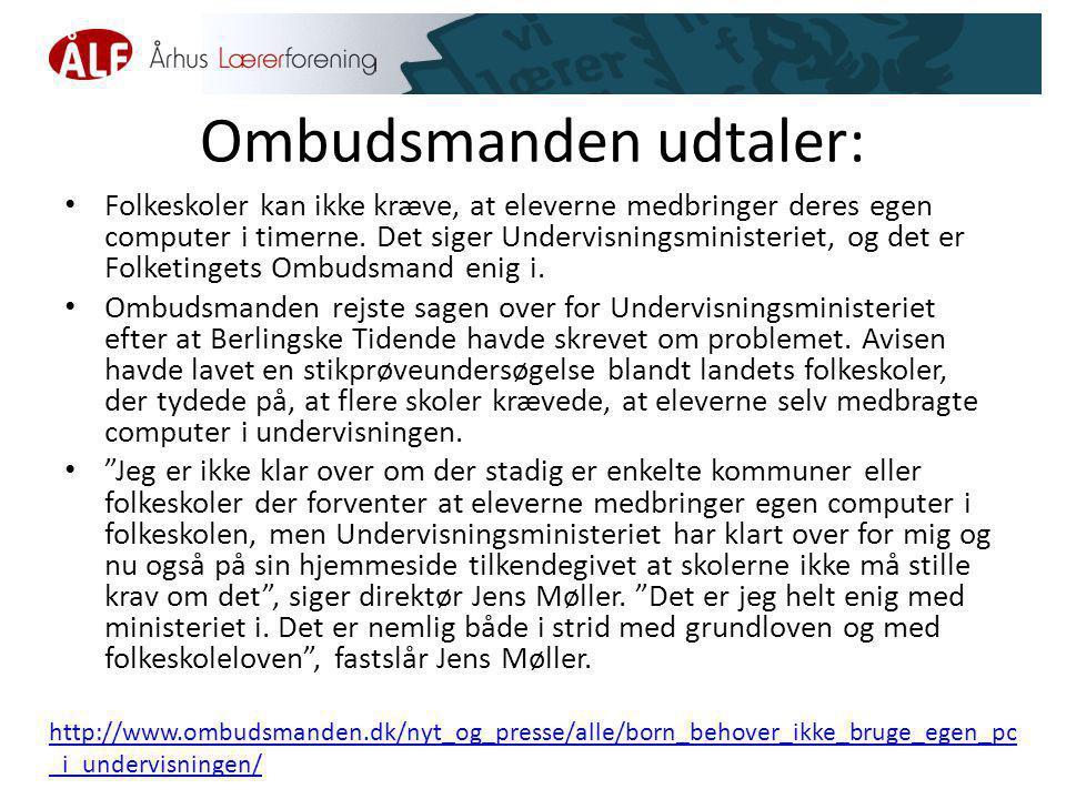 Ombudsmanden udtaler: