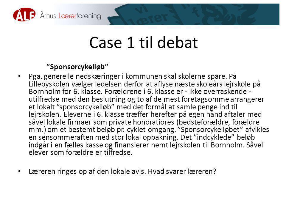 Case 1 til debat Sponsorcykelløb