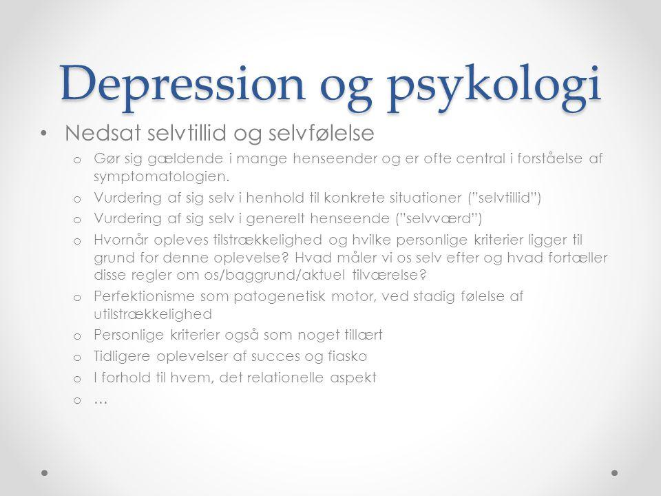 Depression og psykologi