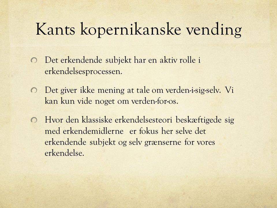 Kants kopernikanske vending