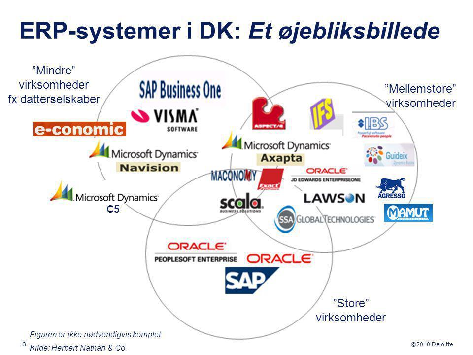 ERP-systemer i DK: Et øjebliksbillede