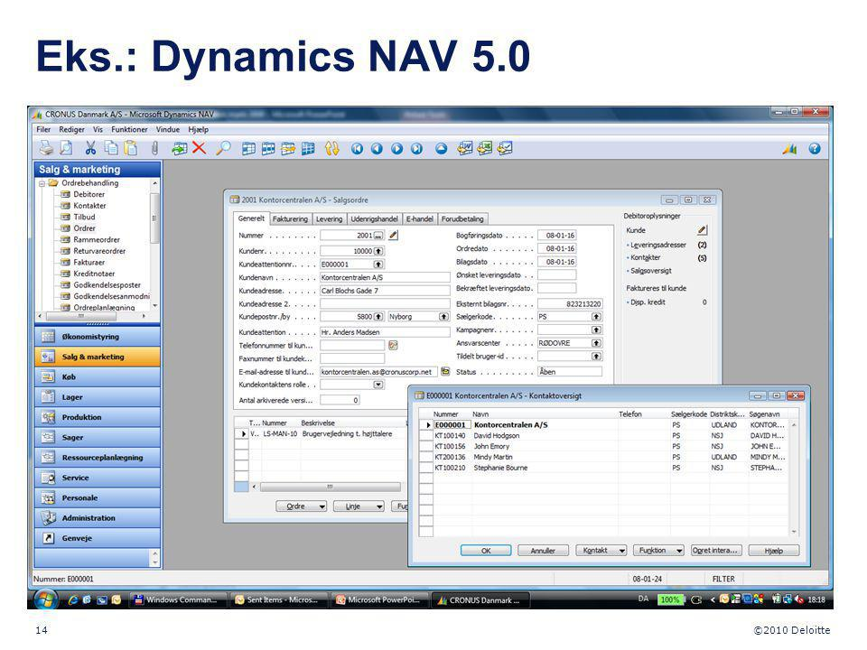 Eks.: Dynamics NAV 5.0