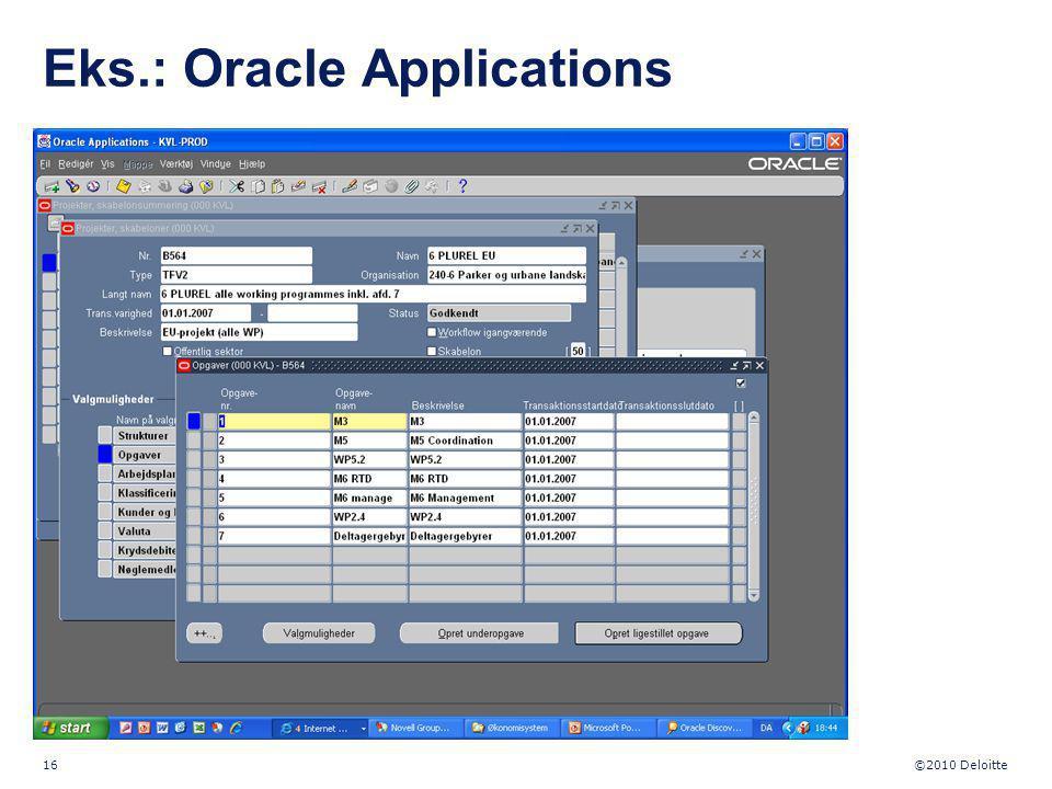Eks.: Oracle Applications