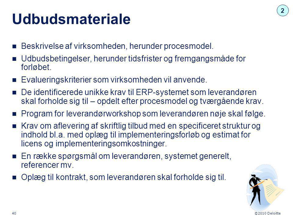 Udbudsmateriale Beskrivelse af virksomheden, herunder procesmodel.