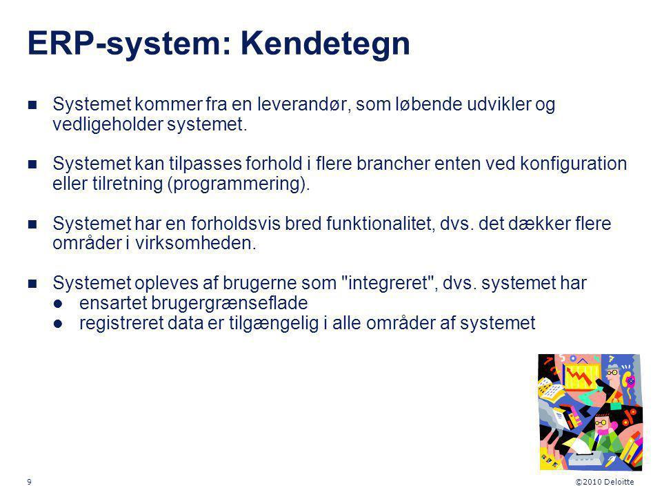 ERP-system: Kendetegn