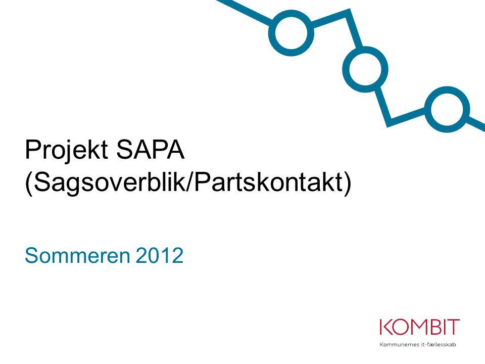 Projekt SAPA (Sagsoverblik/Partskontakt)
