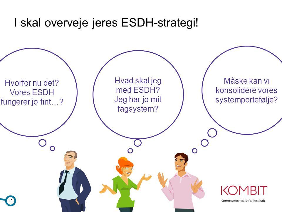 I skal overveje jeres ESDH-strategi!