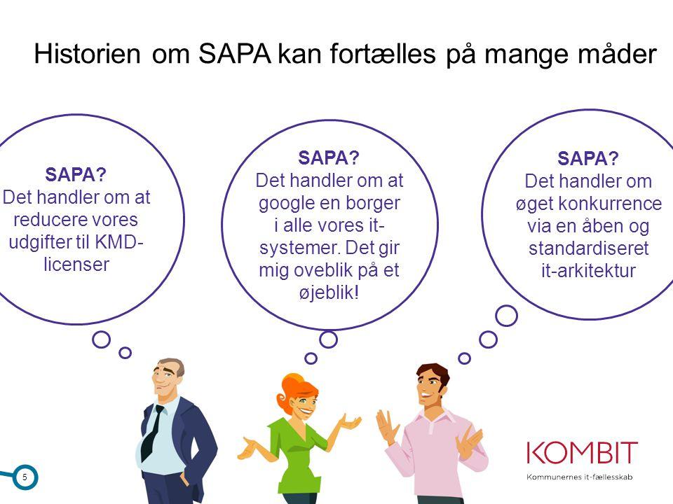 Historien om SAPA kan fortælles på mange måder
