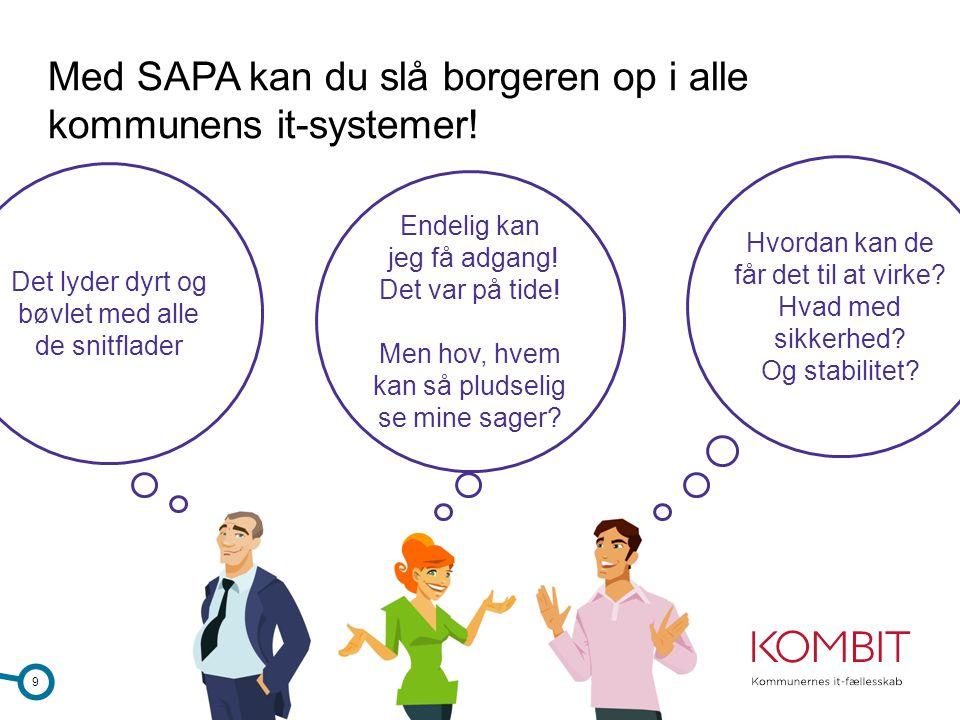 Med SAPA kan du slå borgeren op i alle kommunens it-systemer!