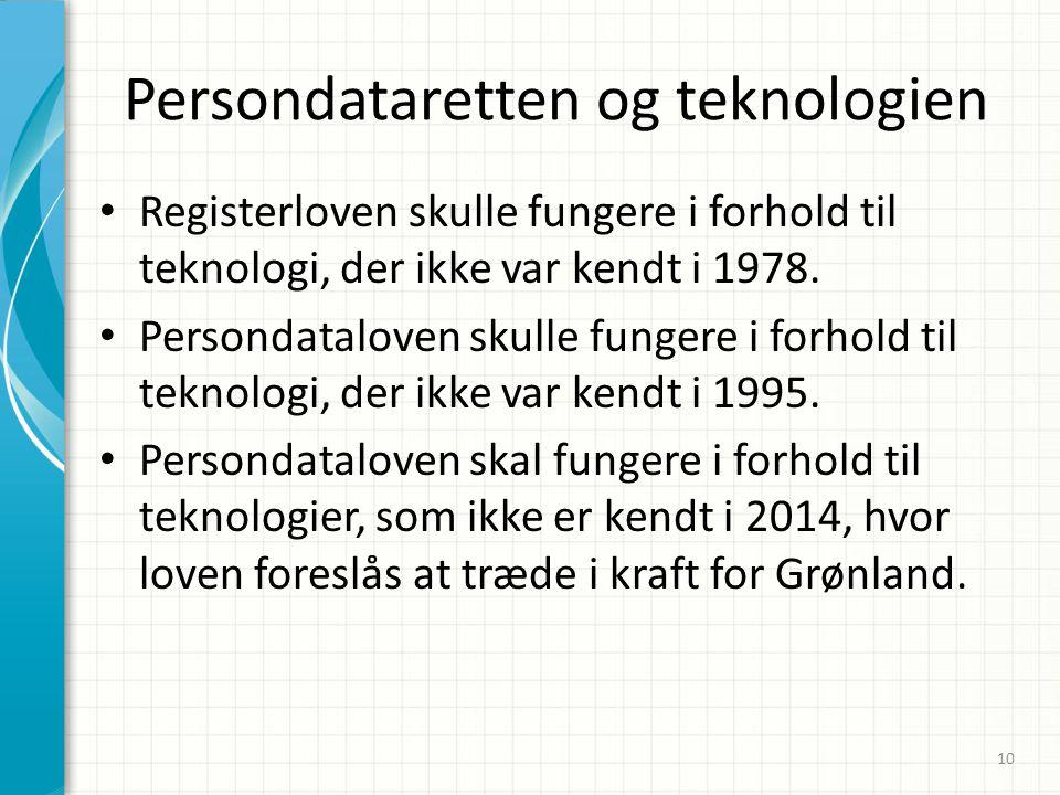 Persondataretten og teknologien