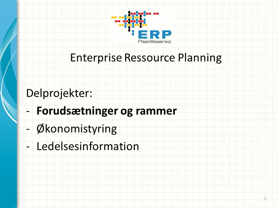 Enterprise Ressource Planning
