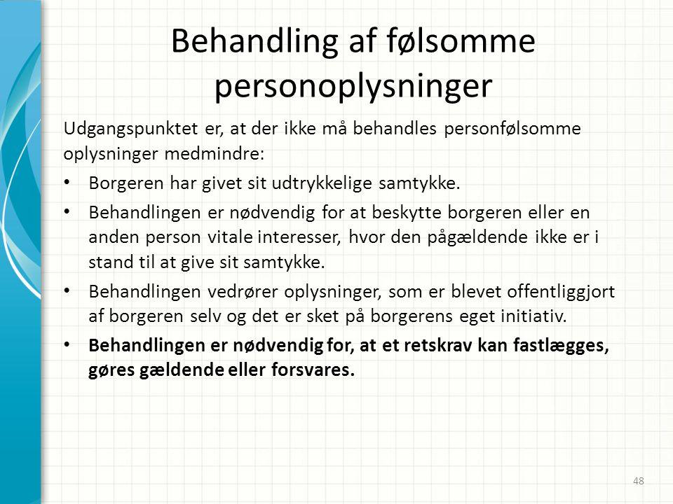 Behandling af følsomme personoplysninger