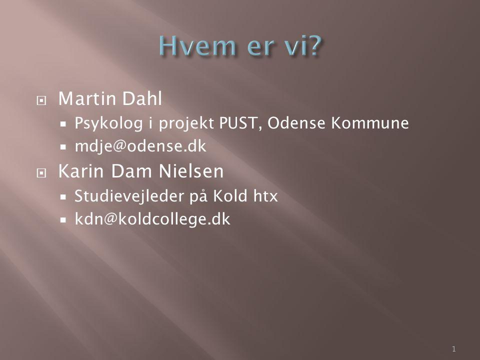 Hvem er vi Martin Dahl Karin Dam Nielsen