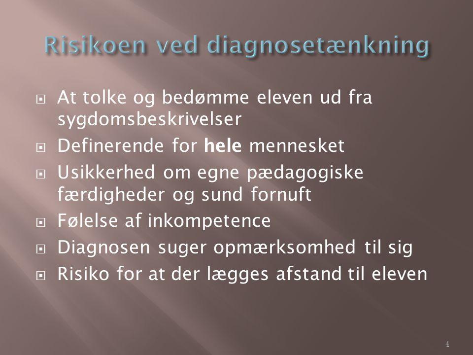 Risikoen ved diagnosetænkning