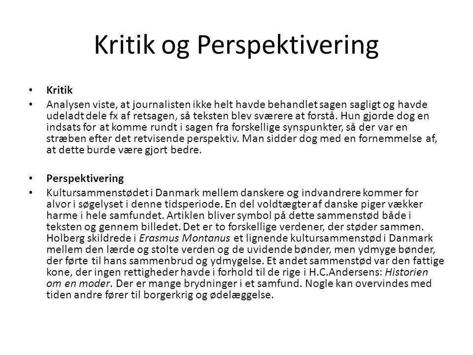 Kritik og Perspektivering