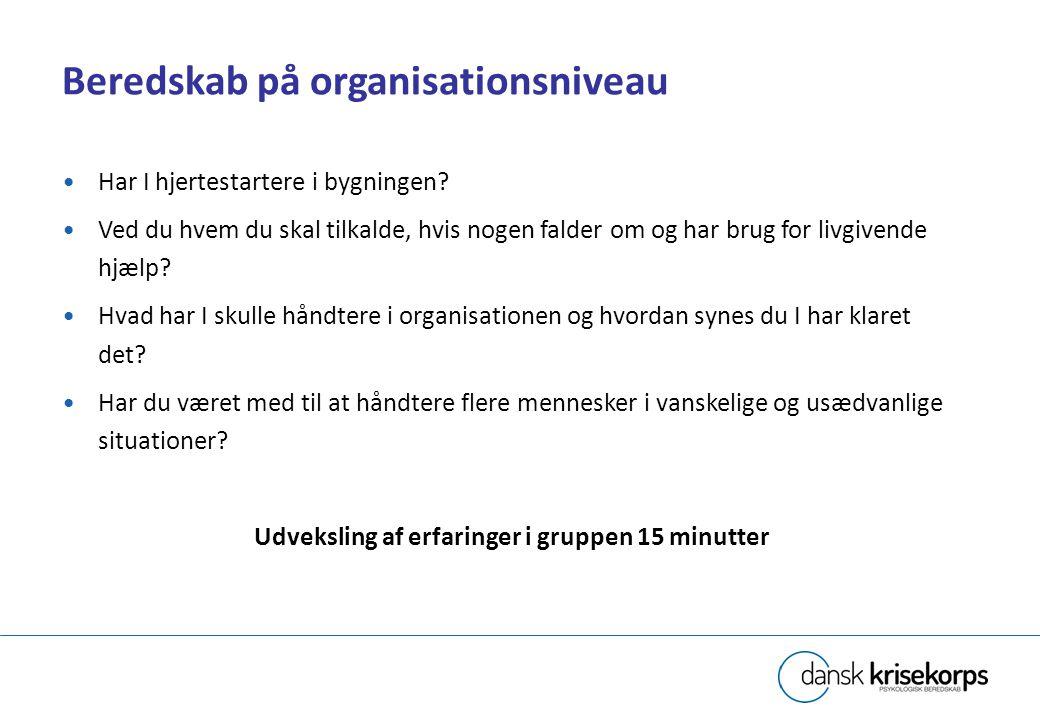 Beredskab på organisationsniveau