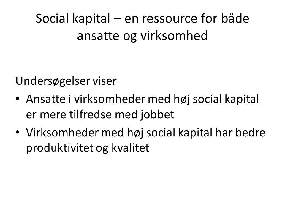 Social kapital – en ressource for både ansatte og virksomhed