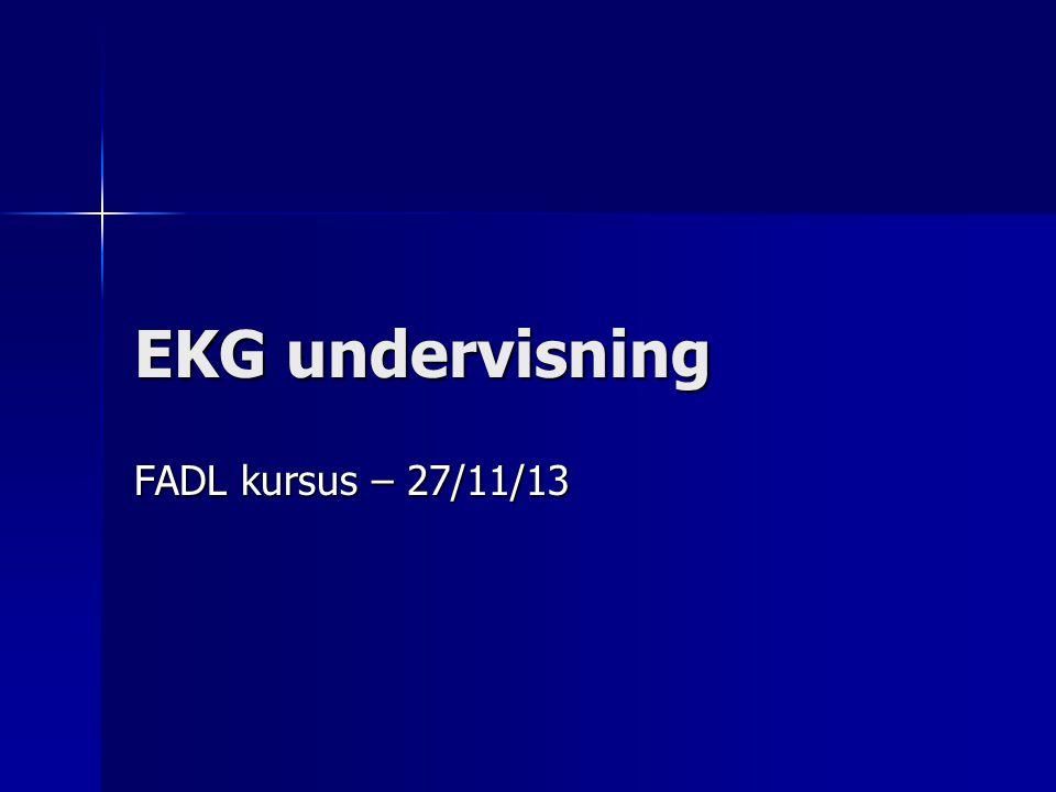EKG undervisning FADL kursus – 27/11/13