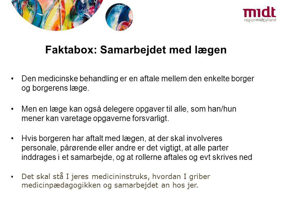 Faktabox: Samarbejdet med lægen