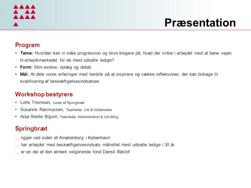Præsentation Program Workshop bestyrere Springbræt