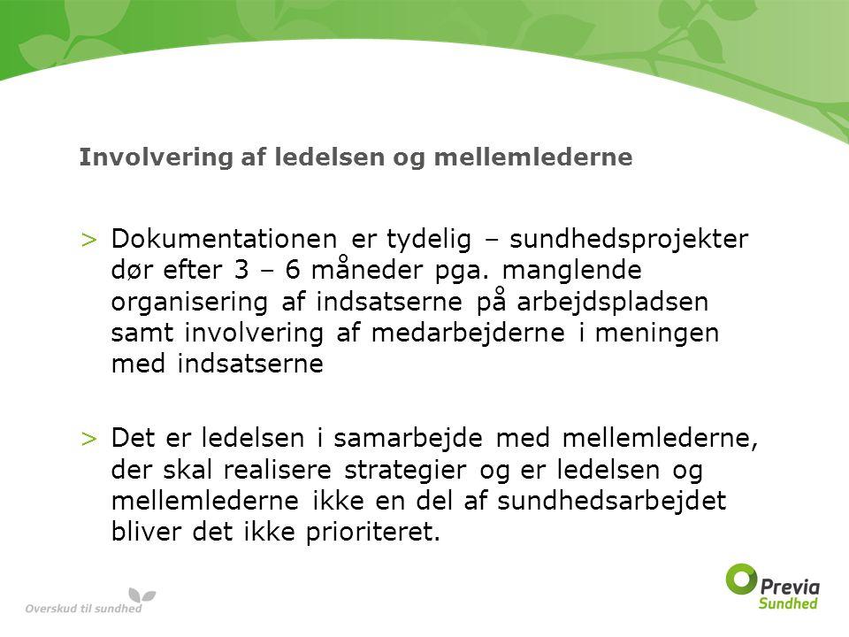 Involvering af ledelsen og mellemlederne