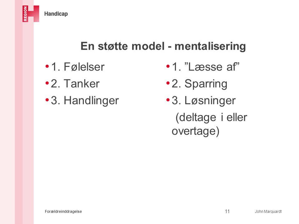 En støtte model - mentalisering