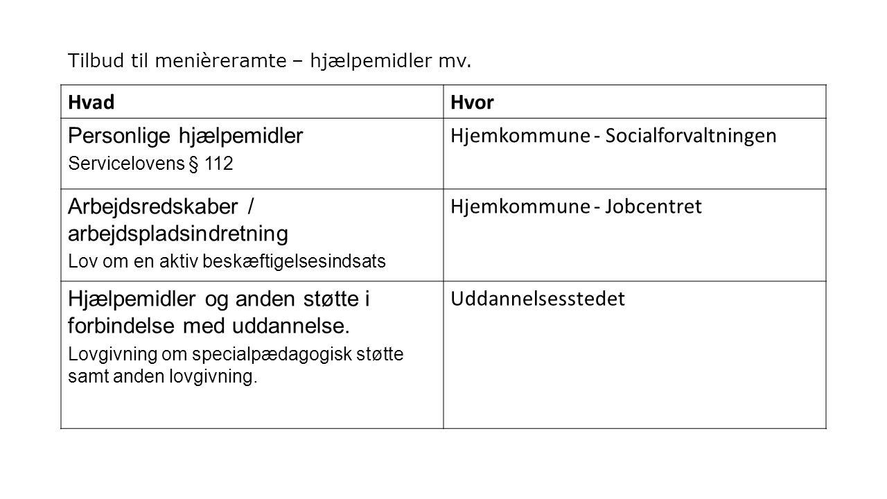 Tilbud til menièreramte – hjælpemidler mv.