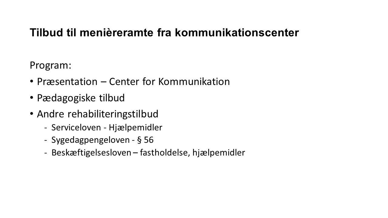Tilbud til menièreramte fra kommunikationscenter